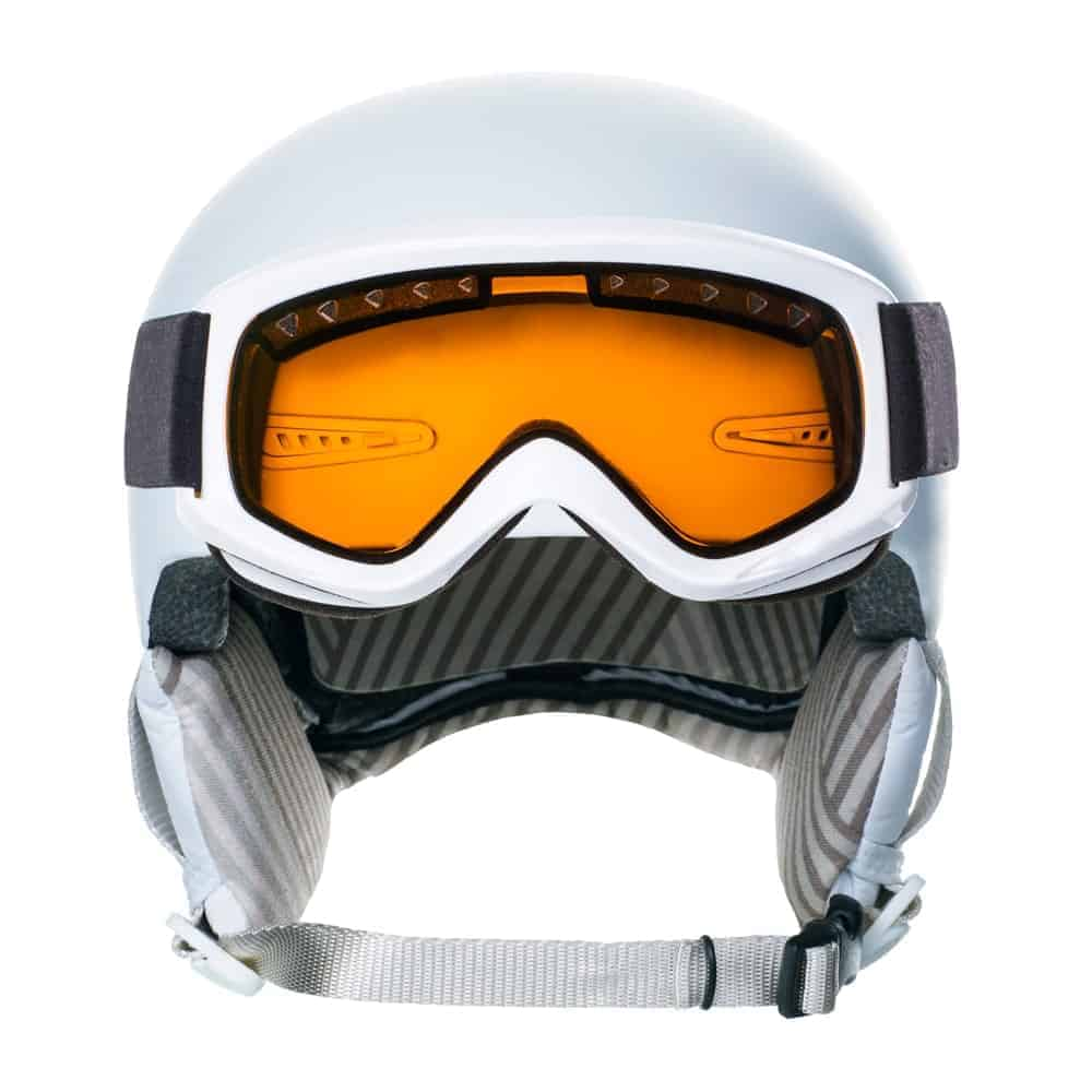 Orange Goggles on a White Background