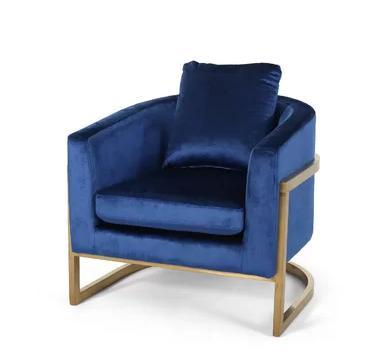 Palmview Modern Velvet Glam Armchair