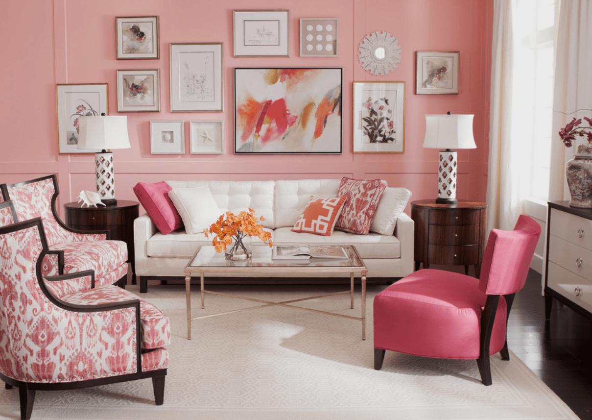 dekorasi warna pink dan putih