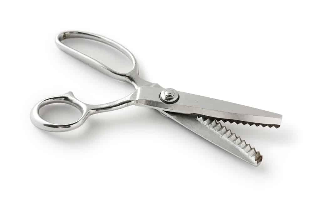 A pair of razor-sharp pinking shears