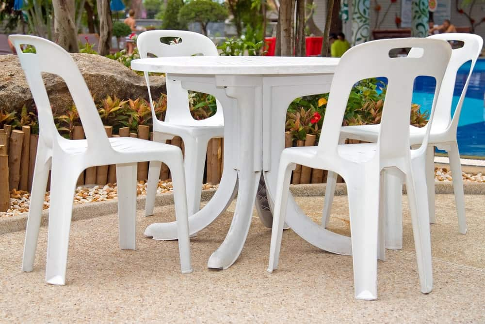 table and chair for garden