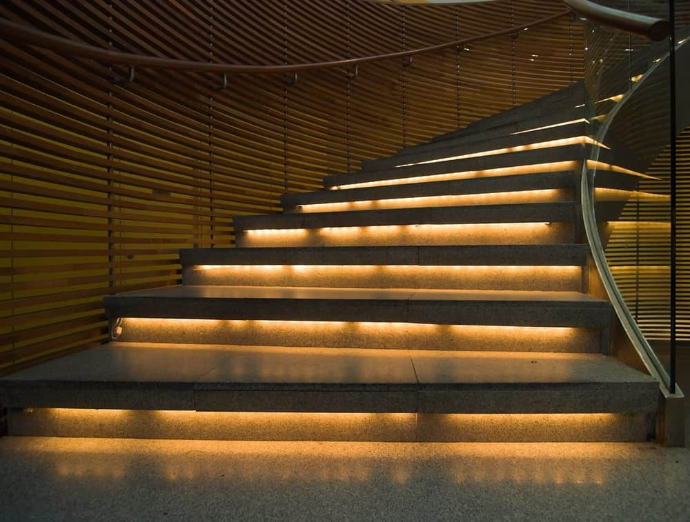 Lighted Stair steps
