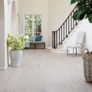 Stunning foyer engineered wood