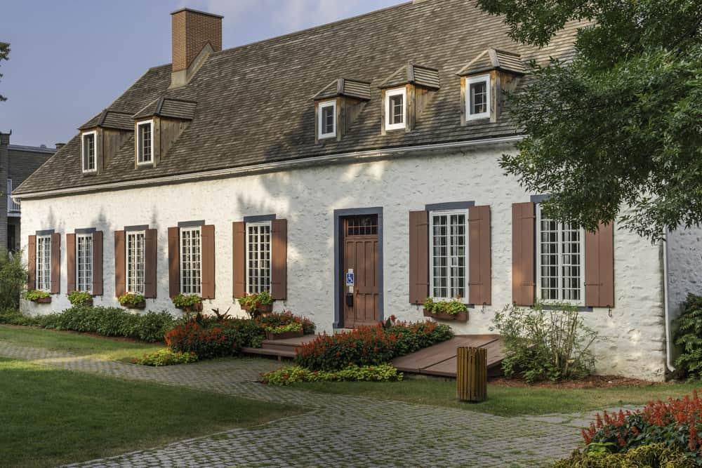 The Manor Boucher de Niverville in Trois Rivieres built in 1668.