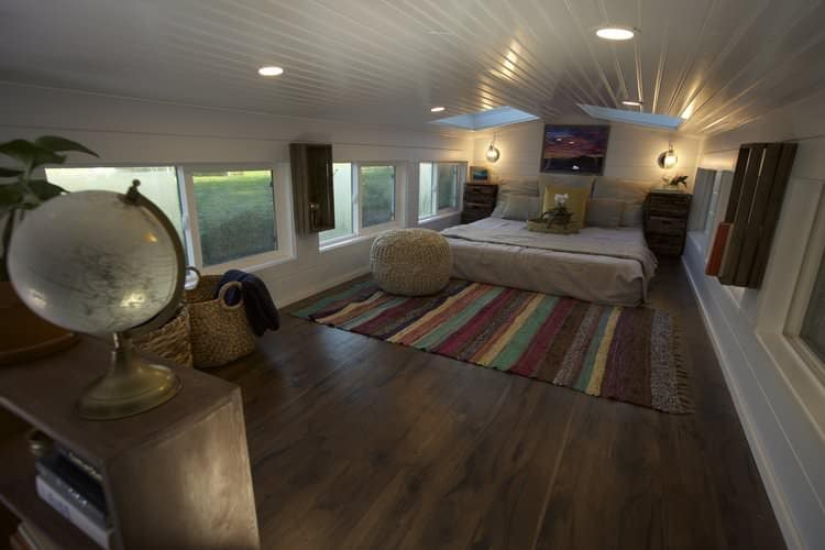 Tiny house with a huge bedroom loft