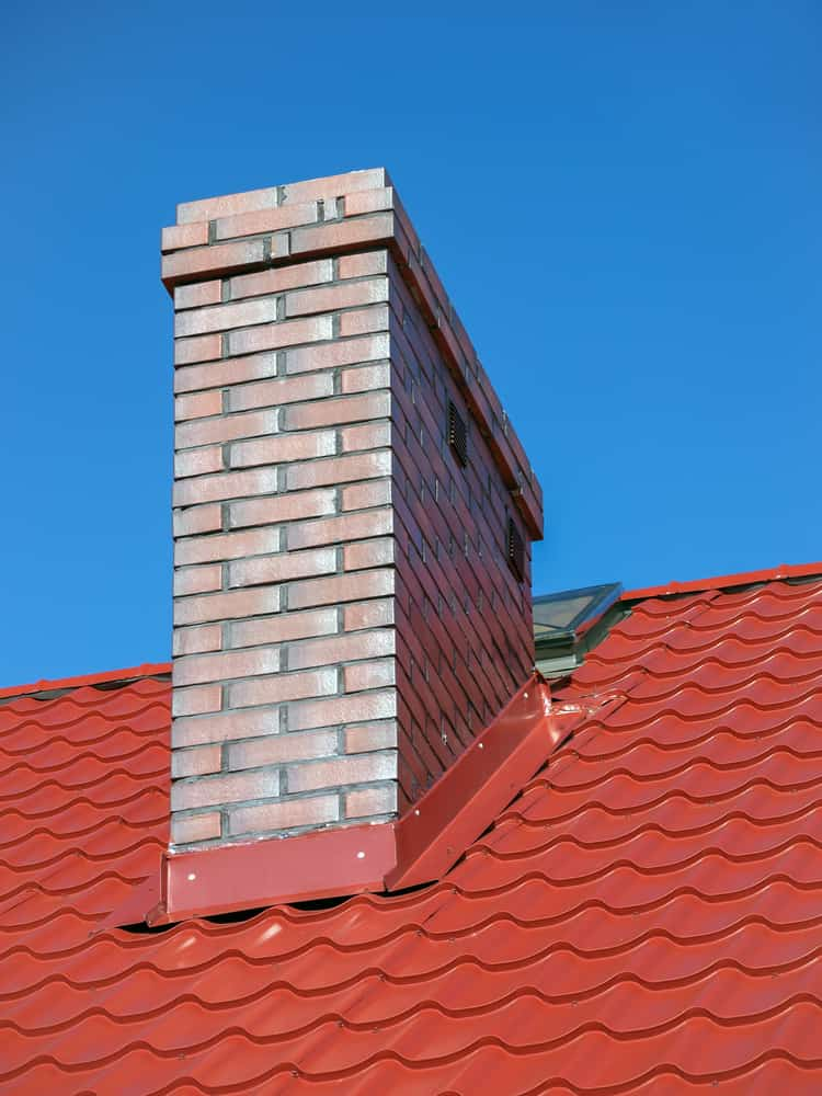 chimney flashing on roof