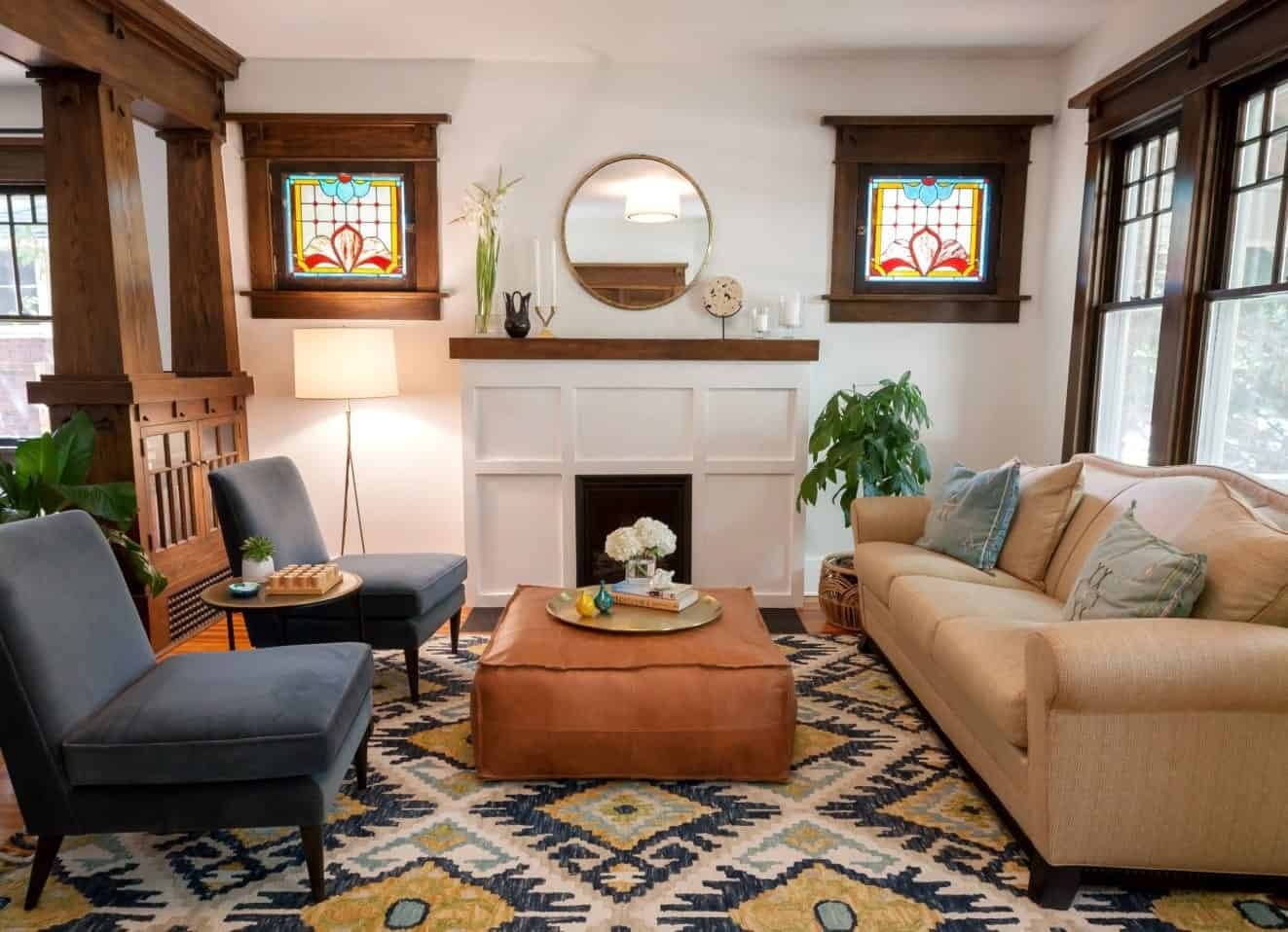 40 Craftsman Style Living Room Ideas Photos