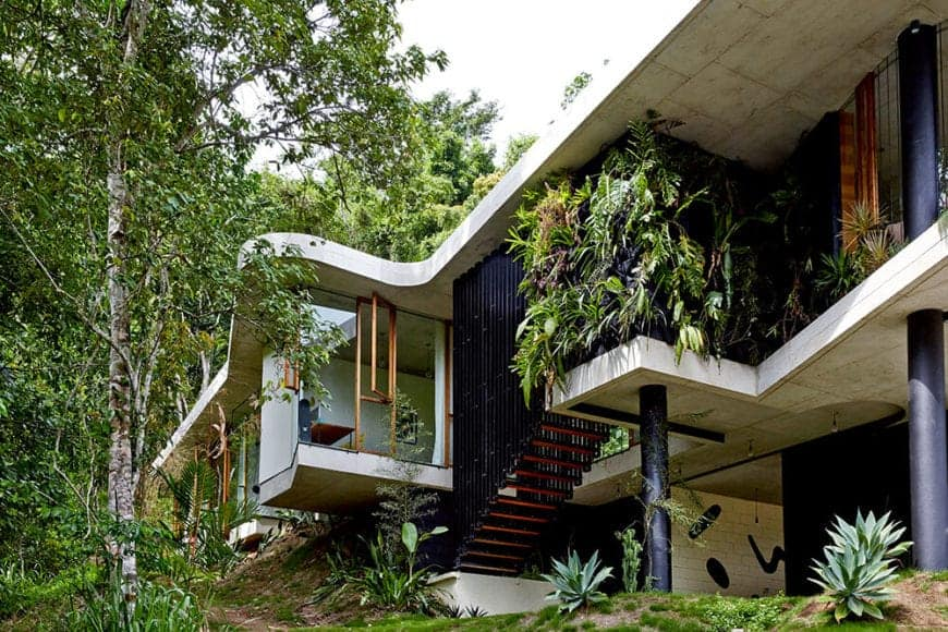 You can see an abundance of trees and plants on this side of the house. This is what you called living a life closer to nature.