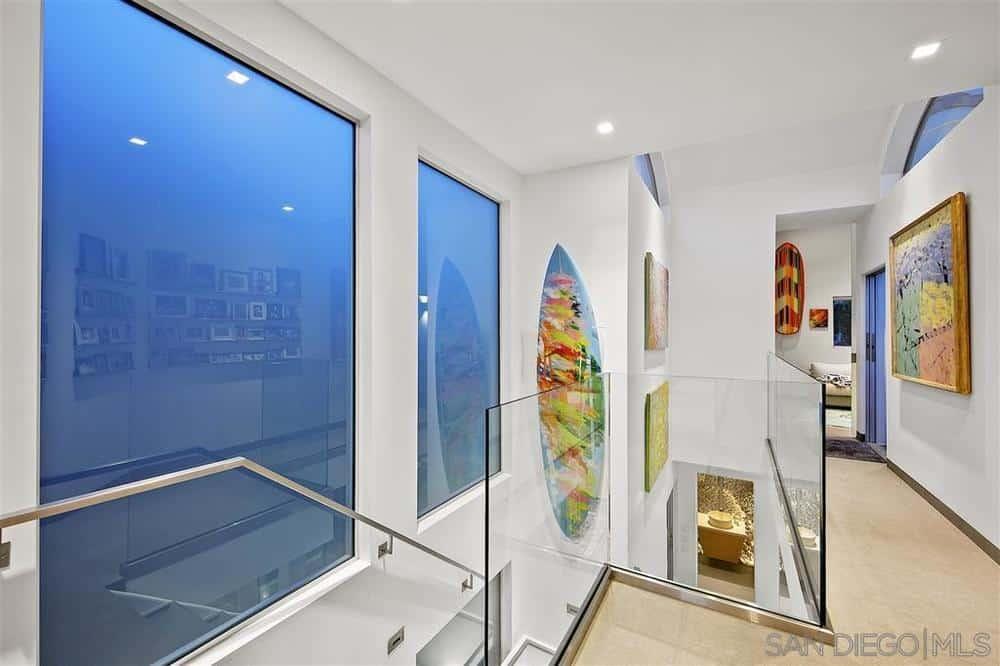 La Jolla beach house hallway