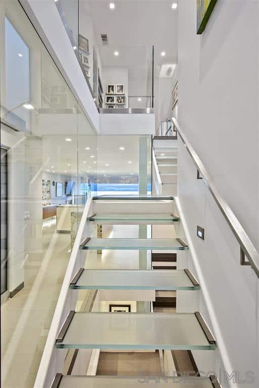 La Jolla beach house stairway