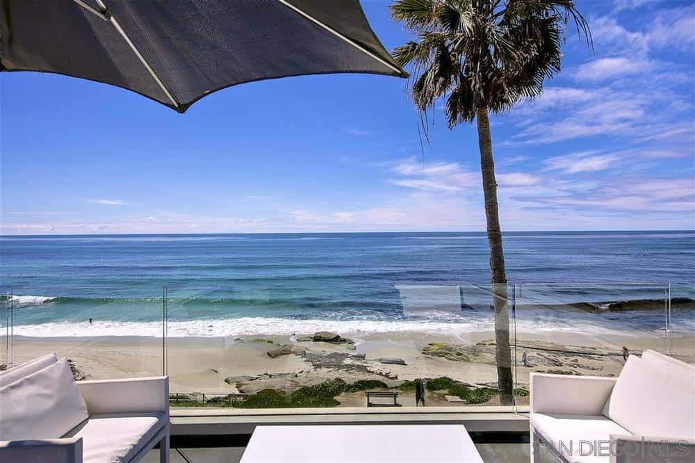 La Jolla beach house rooftop deck
