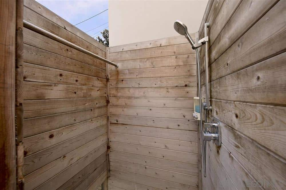La Jolla beach house outdoor shower
