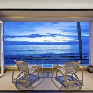 Looking out to the ocean from La Jolla beach home