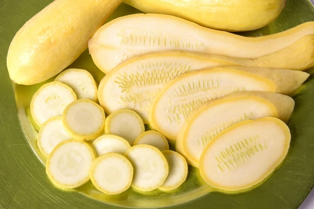 Slices of yellow squash.