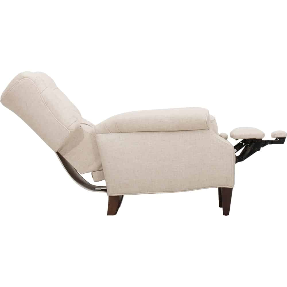 Cream-Colored Push-Back Recliner