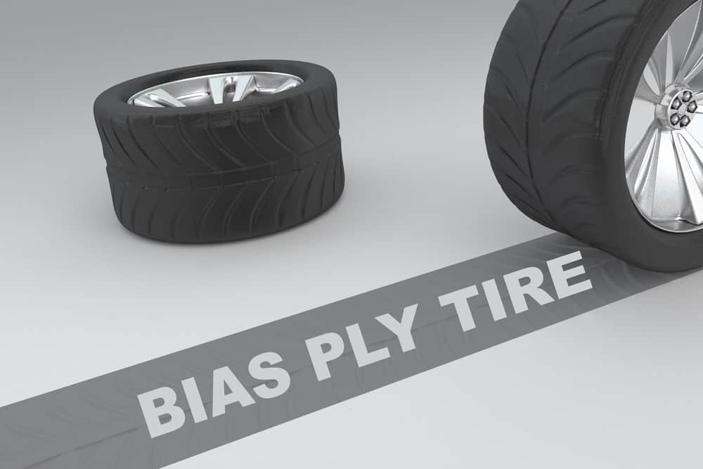Two bias ply tires