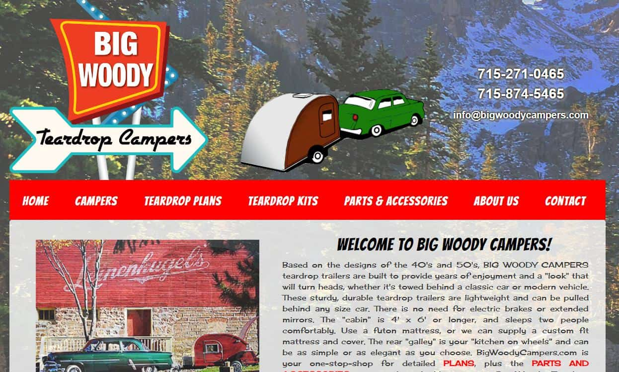 Big Woody website