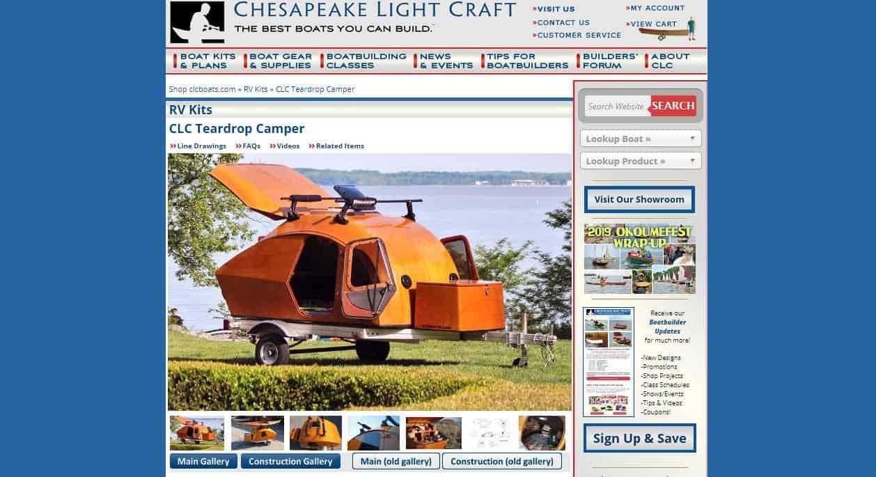Chesapeake Light Craft website