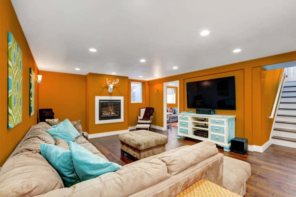Orange Basement Interior - Pantone 151