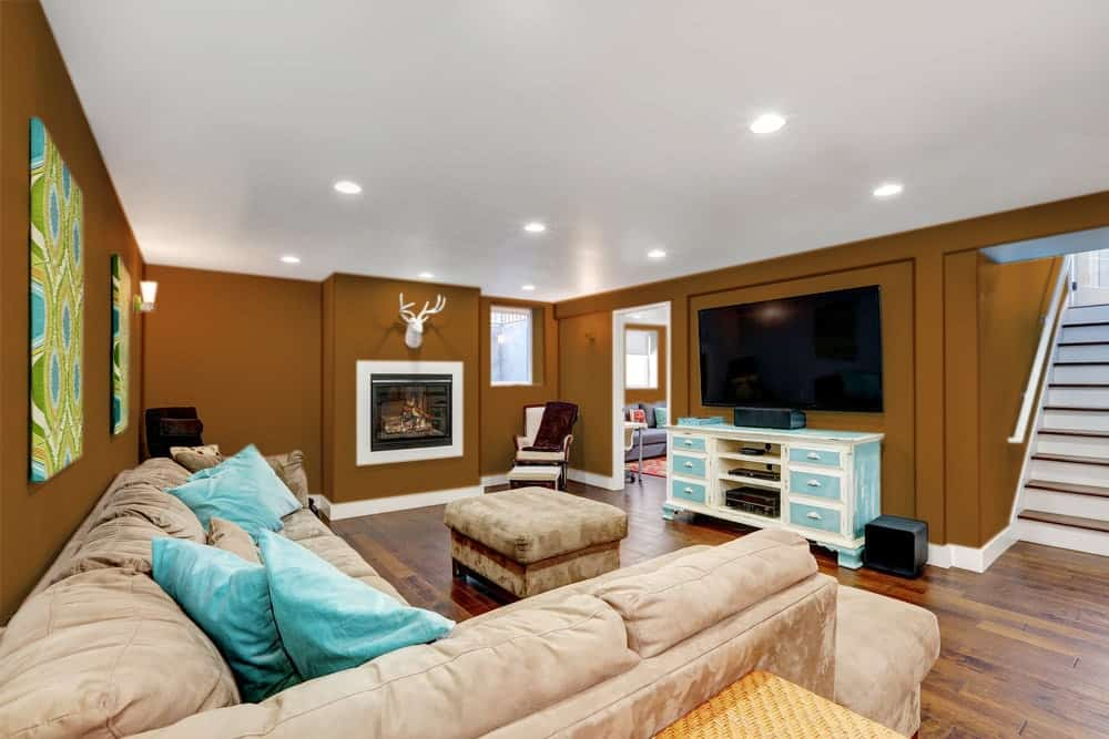 Brown Orange Basement Interior - Pantone 160