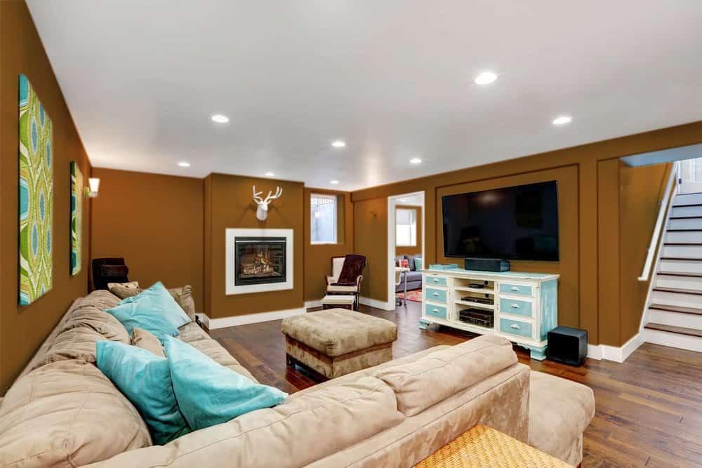Brown Orange Basement Interior - Pantone 160