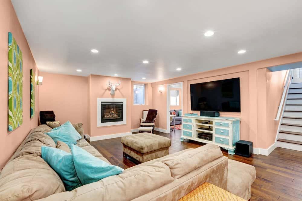 Pink Basement Interior - Pantone 162