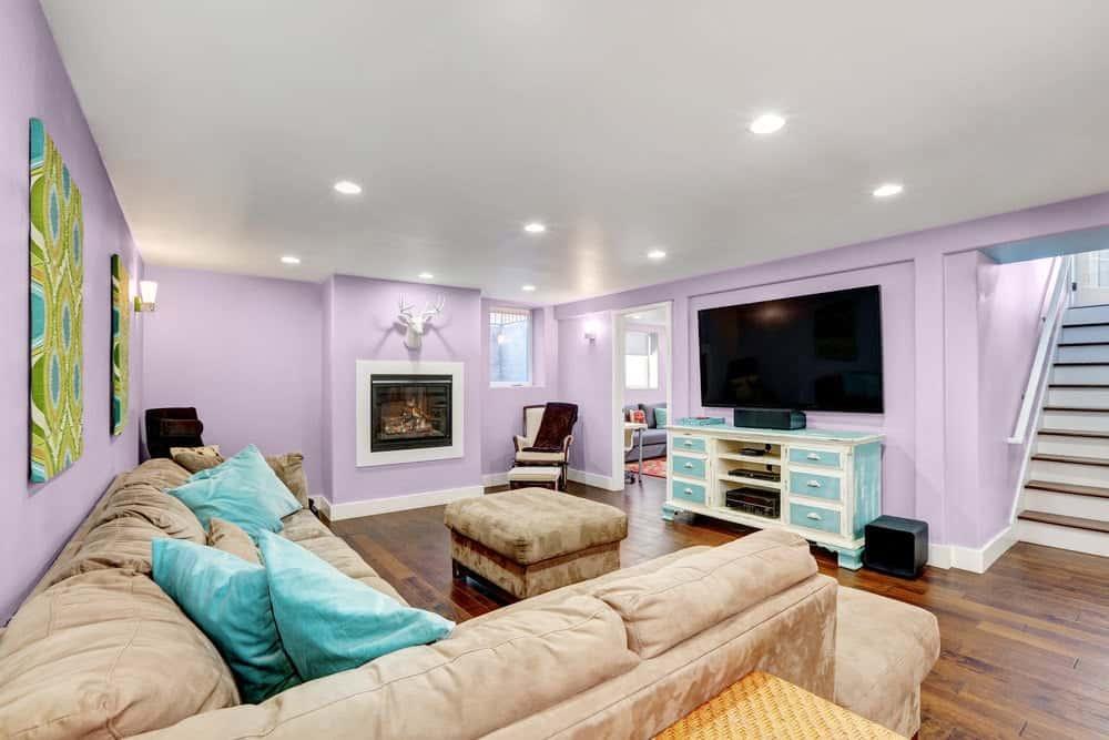 Light Purple Basement Interior - Pantone 263