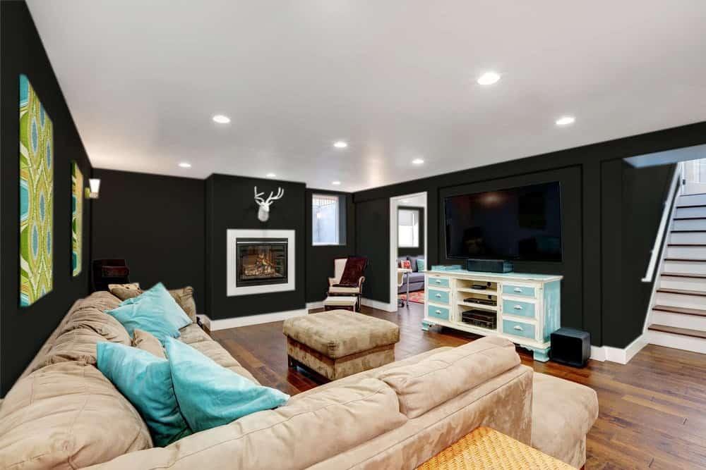 Black Basement Interior - Pantone 419