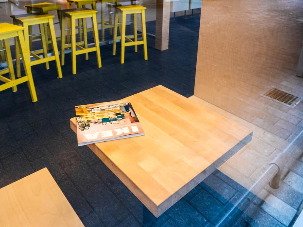 An IKEA Catalog in an IKEA Store