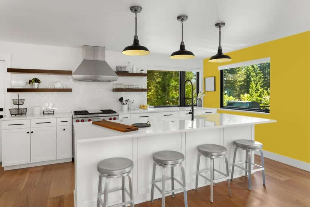Mustard Yellow Kitchen Interior - Pantone 117
