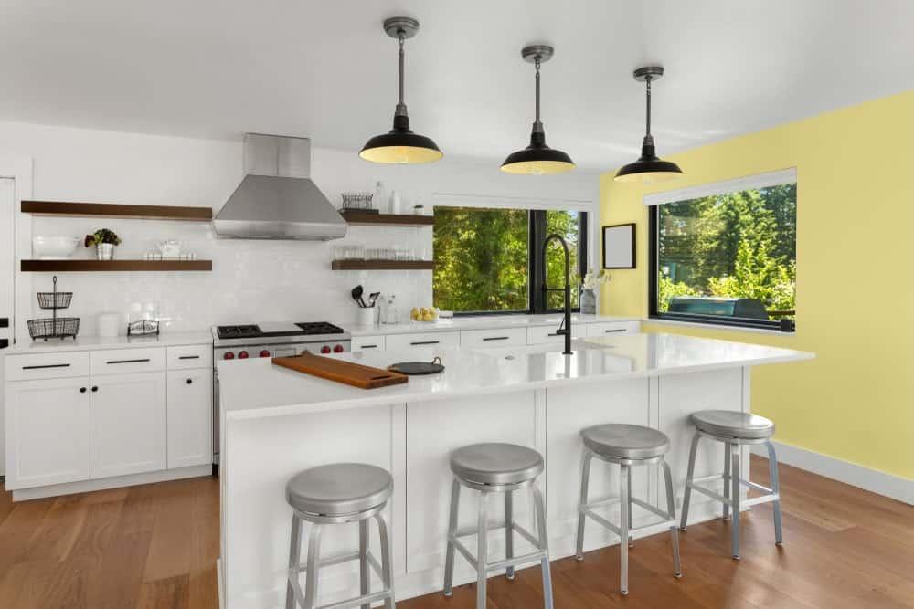 Soft Yellow Kitchen Interior - Pantone 127