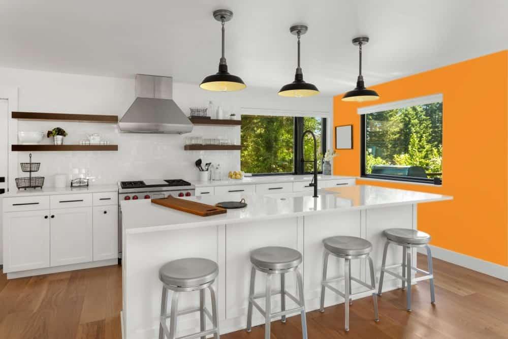 Orange Kitchen Interior - Pantone 151