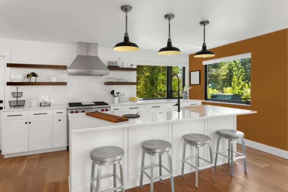Brown Orange Kitchen Interior - Pantone 160