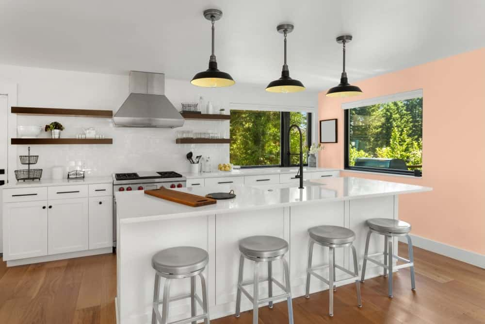 Pink Kitchen Interior - Pantone 162