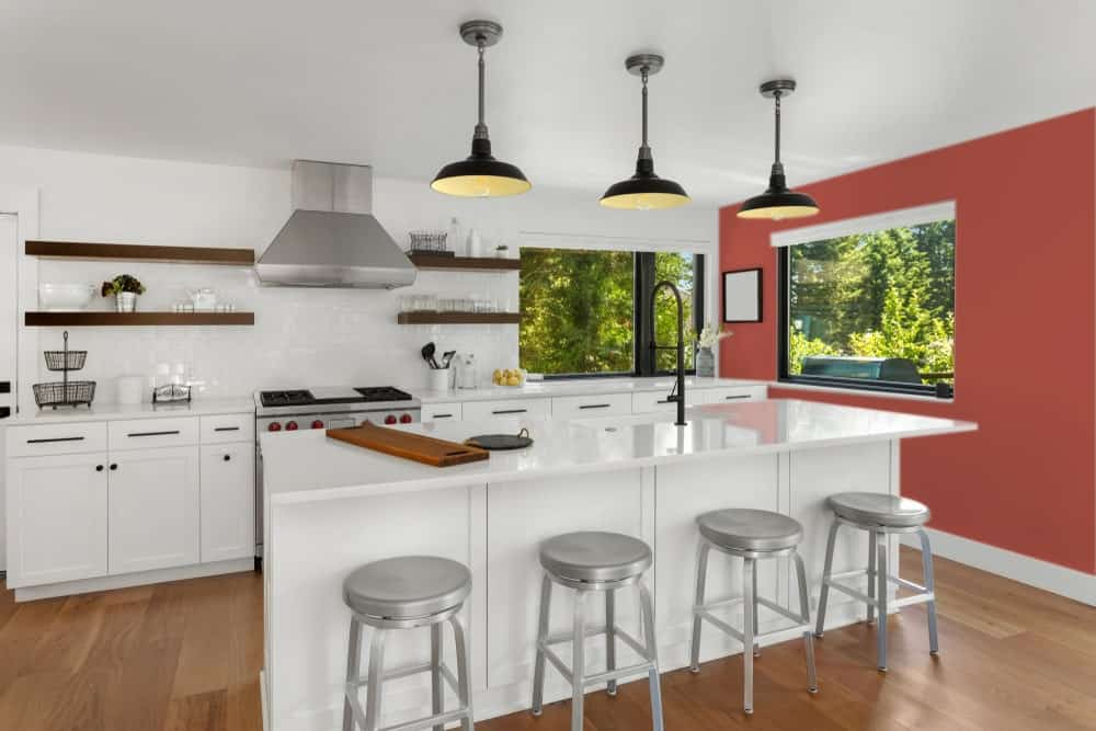 Red Kitchen Interior - Pantone 180