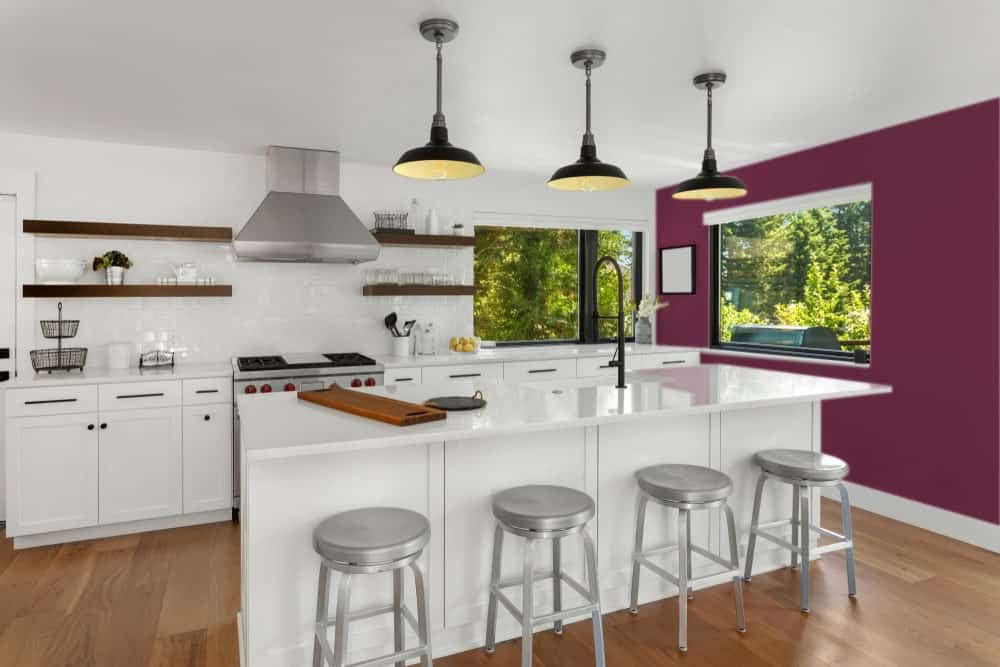 Deep Purple Kitchen Interior - Pantone 222