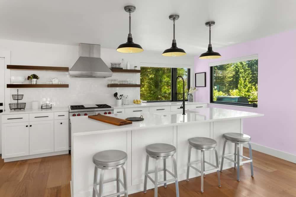 Light Purple Kitchen Interior - Pantone 263