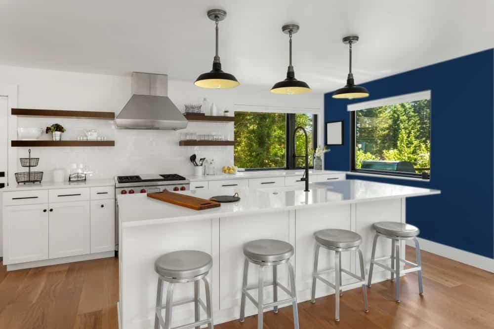 Dark Blue Kitchen Interior - Pantone 282
