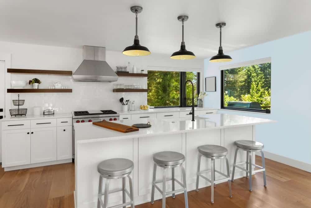 Light Blue Kitchen Interior - Pantone 290