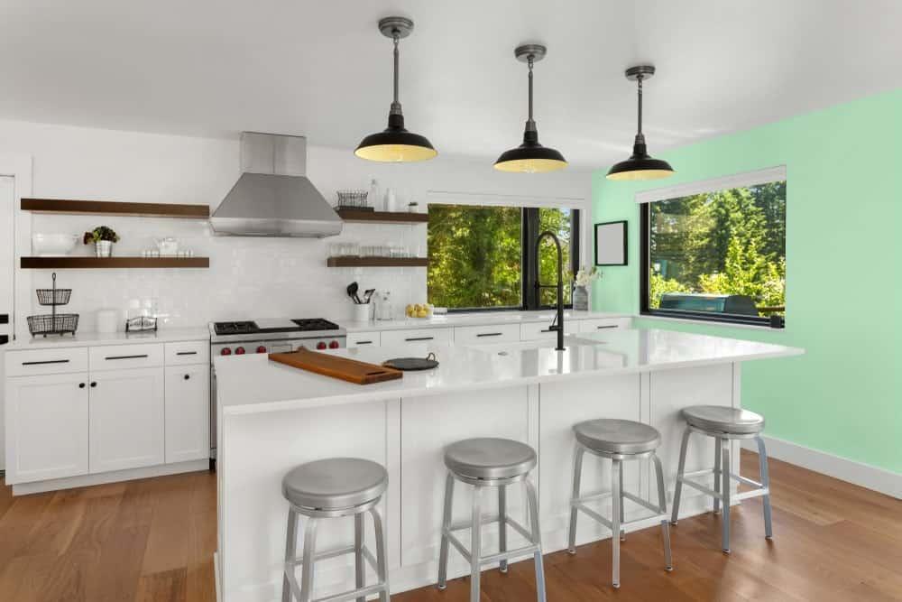 Light Green Kitchen Interior - Pantone 344