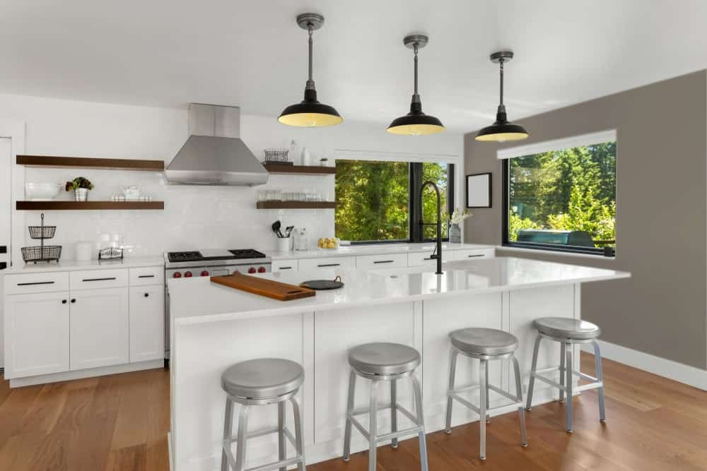 Dark Beige Kitchen Interior - Pantone 404