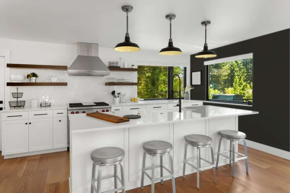 Black Kitchen Interior - Pantone 419