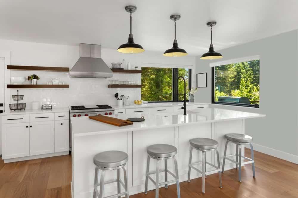 Gray Kitchen Interior - Pantone 429