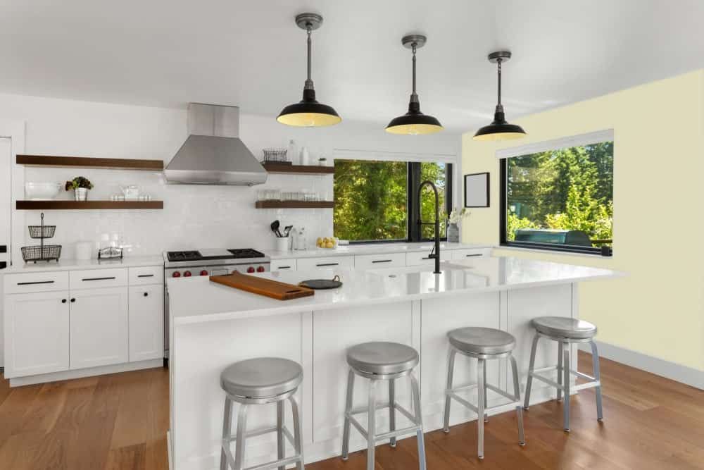Light Green Kitchen Interior - Pantone 5807