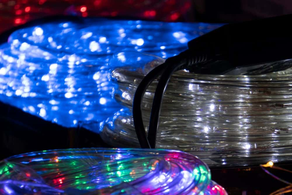 Coils of LED rope lights