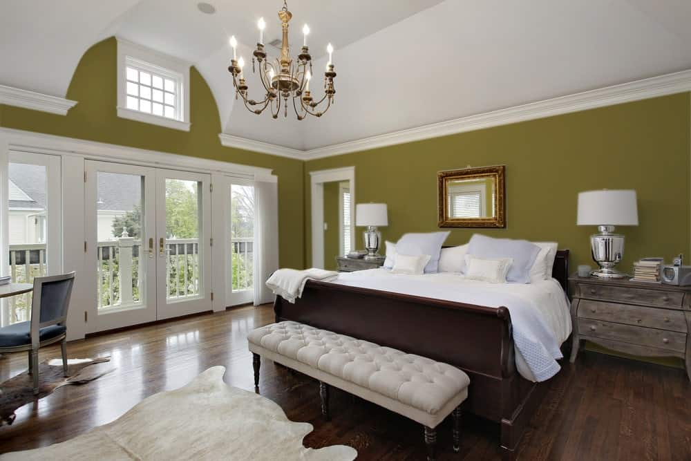 Taupe Master Bedroom Interior - Pantone 119