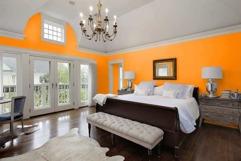 Orange Master Bedroom Interior - Pantone 151