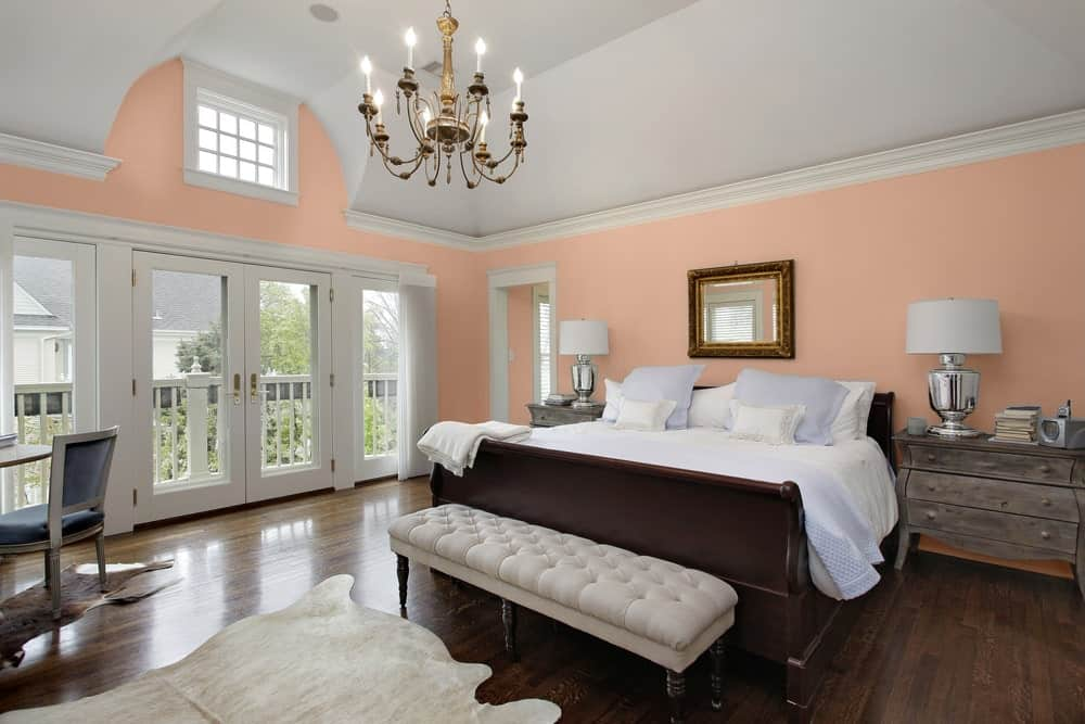 Pink Master Bedroom Interior - Pantone 162