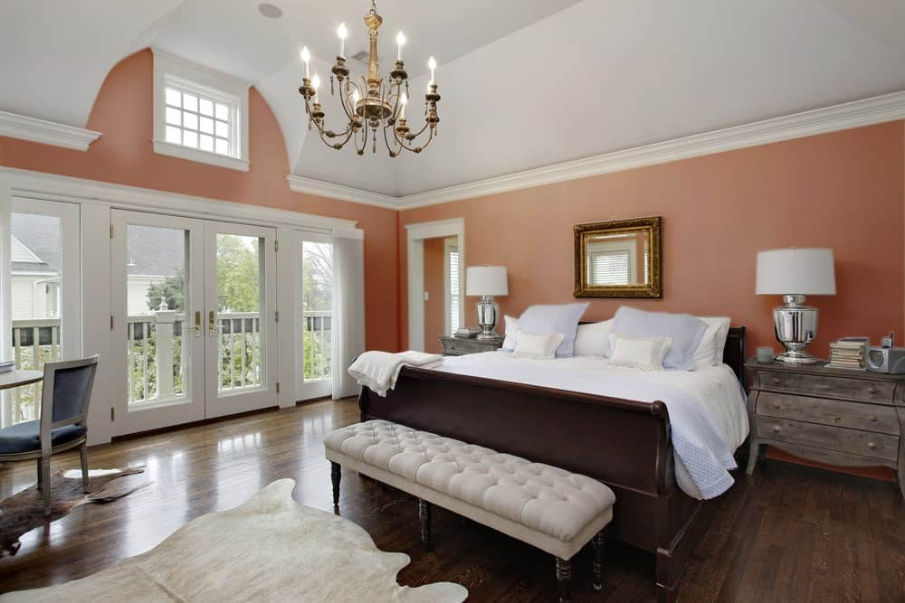 Burgundy Master Bedroom Interior - Pantone 175