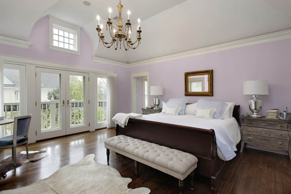 Light Purple Master Bedroom Interior - Pantone 263